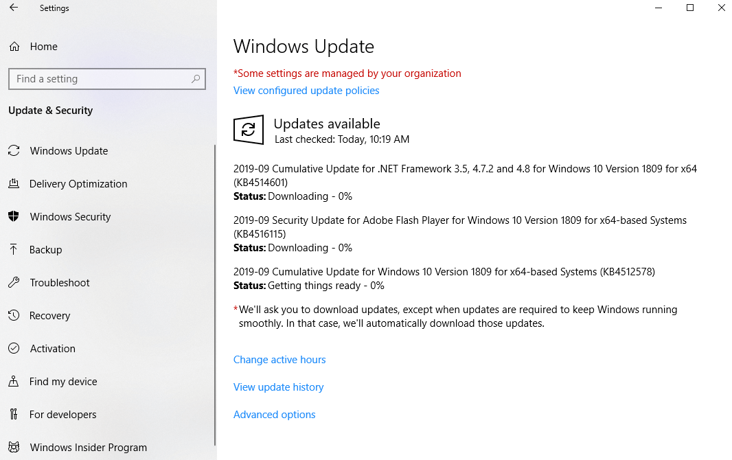 windows update - pirated windows 10