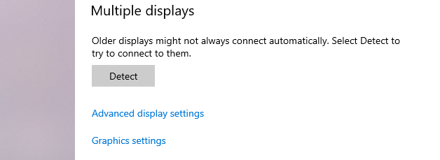 Advanced Display setting