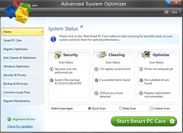 Advanced-System-Optimizer-Interface