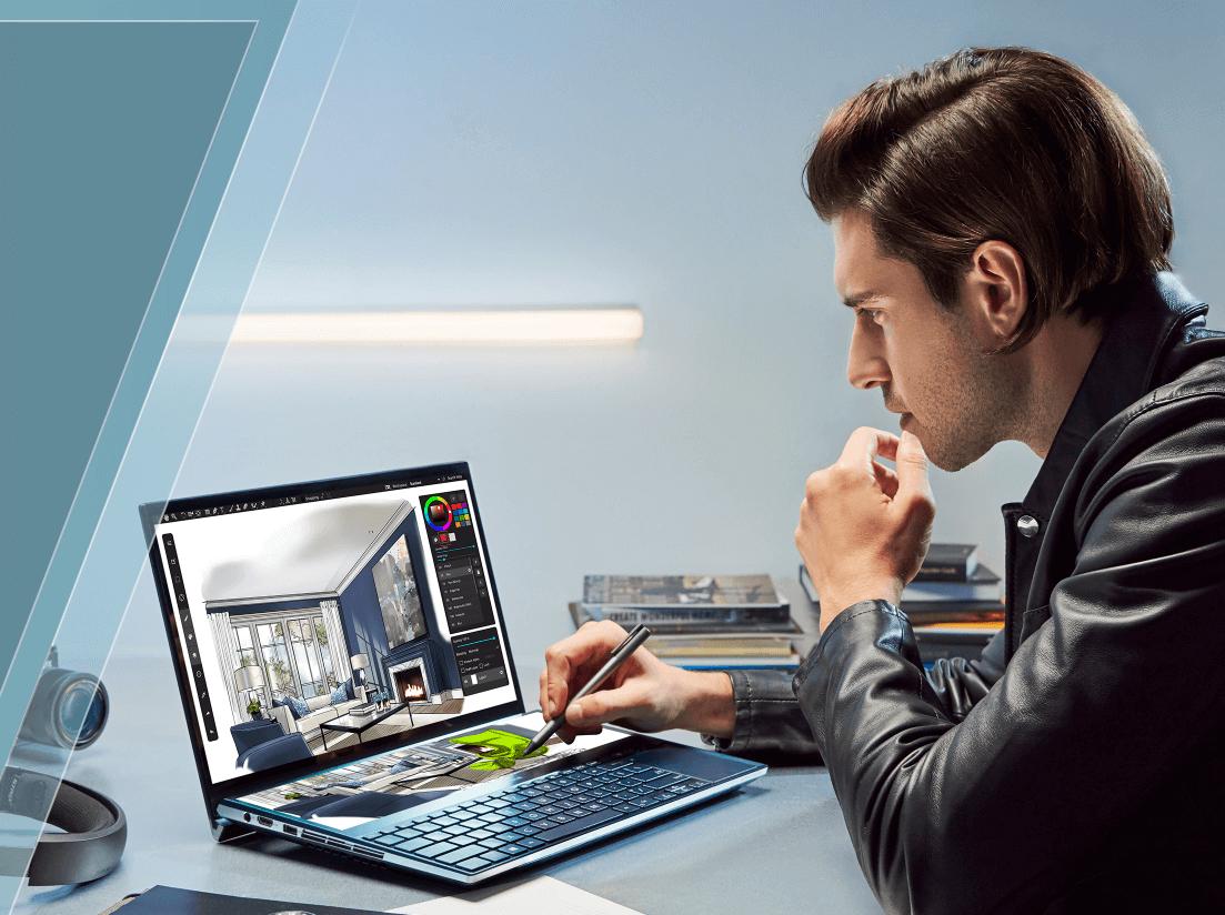 Asus ZenBook Pro Duo dual-screen Laptop pen