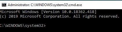 Command Prompt Window 1