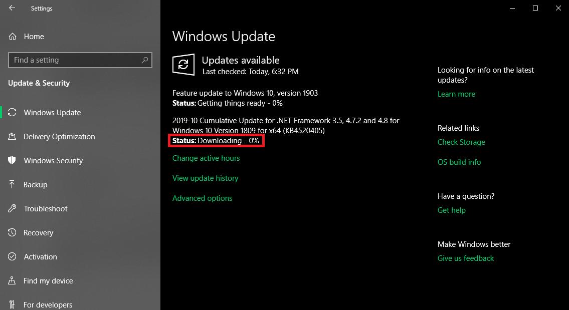 Download the updtes