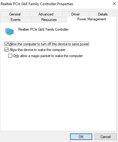 Modifying Network Adapter Properties - permenently disable airplane mode windows 10