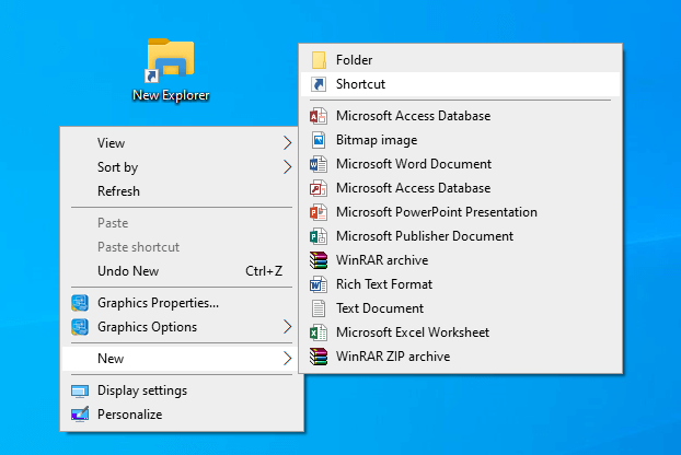 New File Explorer Shortcut