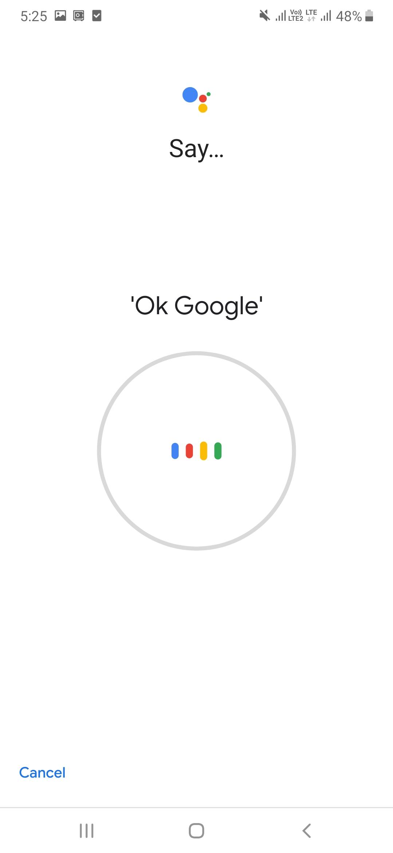 Say Ok Google