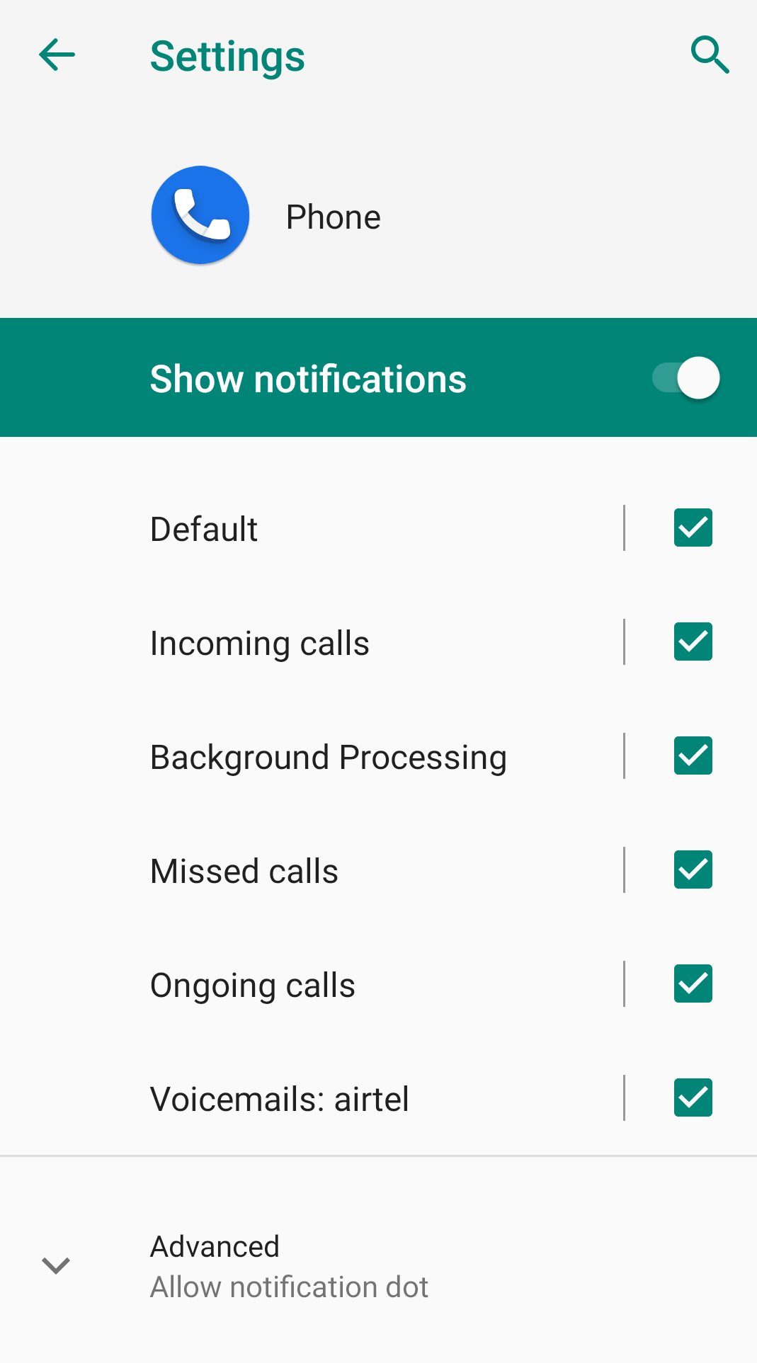 Toggle On Show Notifications