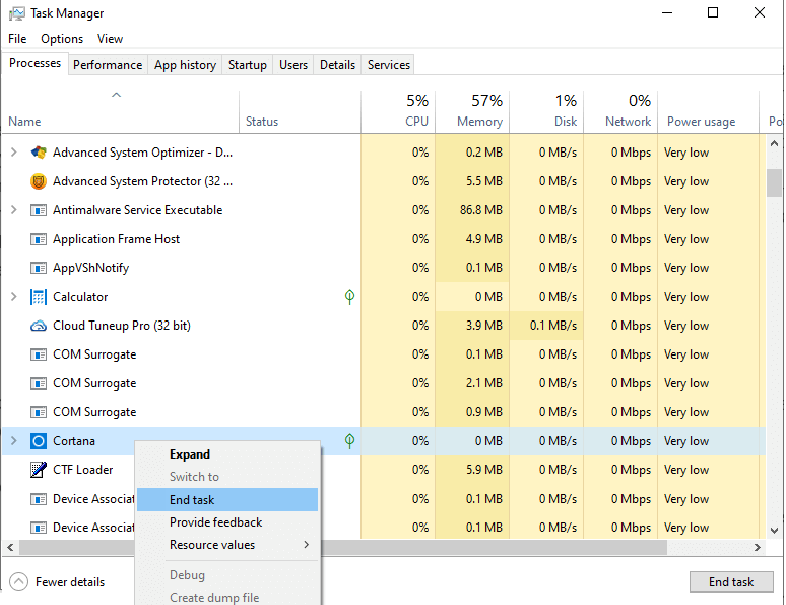 Use the Task Manager to restart Windows 10 processes