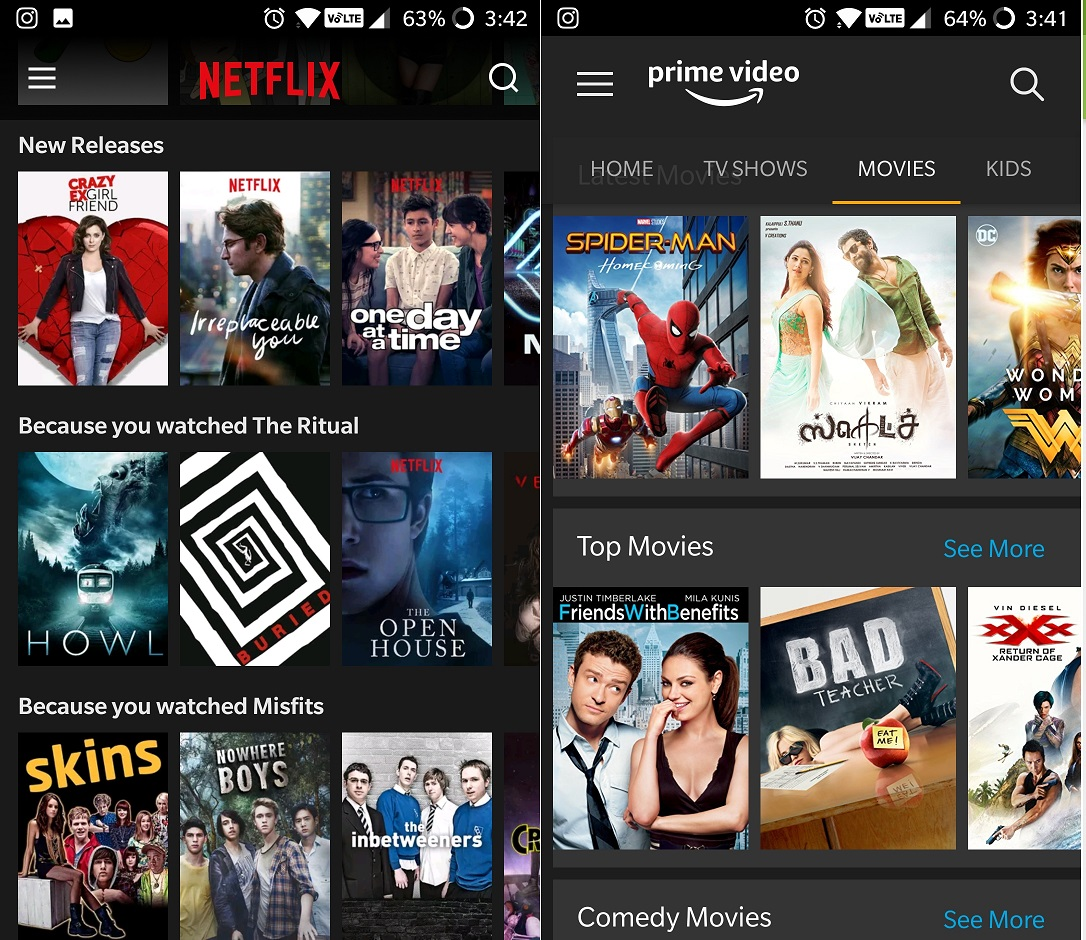 Video Streaming Service_Netflix_Prime