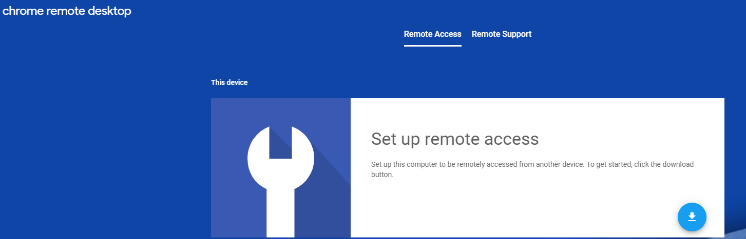 Chrome Remote Desktop ss