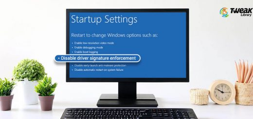 Disable Driver Signature Enforcement On Windows 10