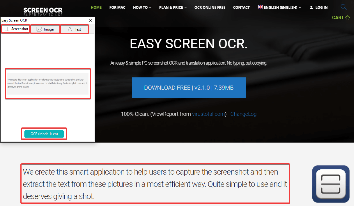 Easy Screen OCR Converter Console