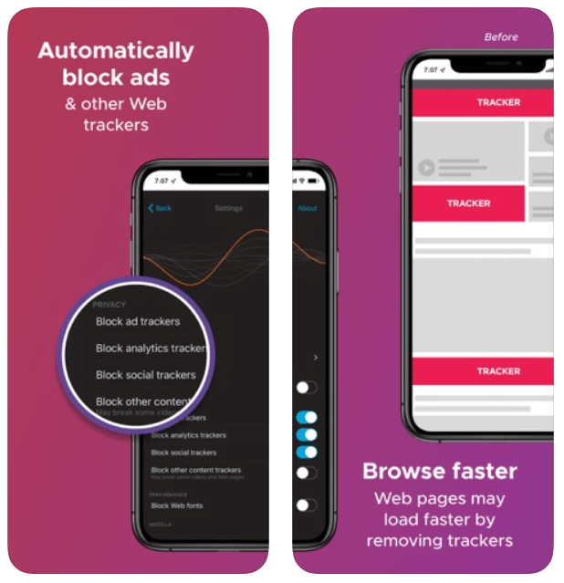 Firefox Focus browser for iPhone