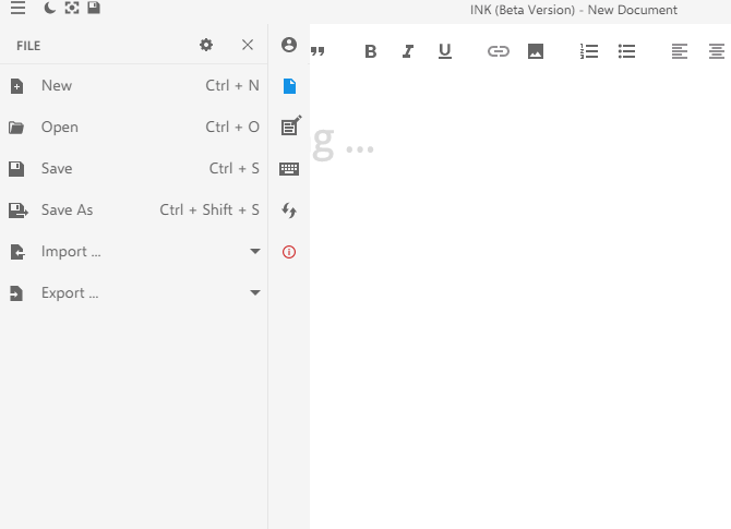 Ink Interface - Word document Editor