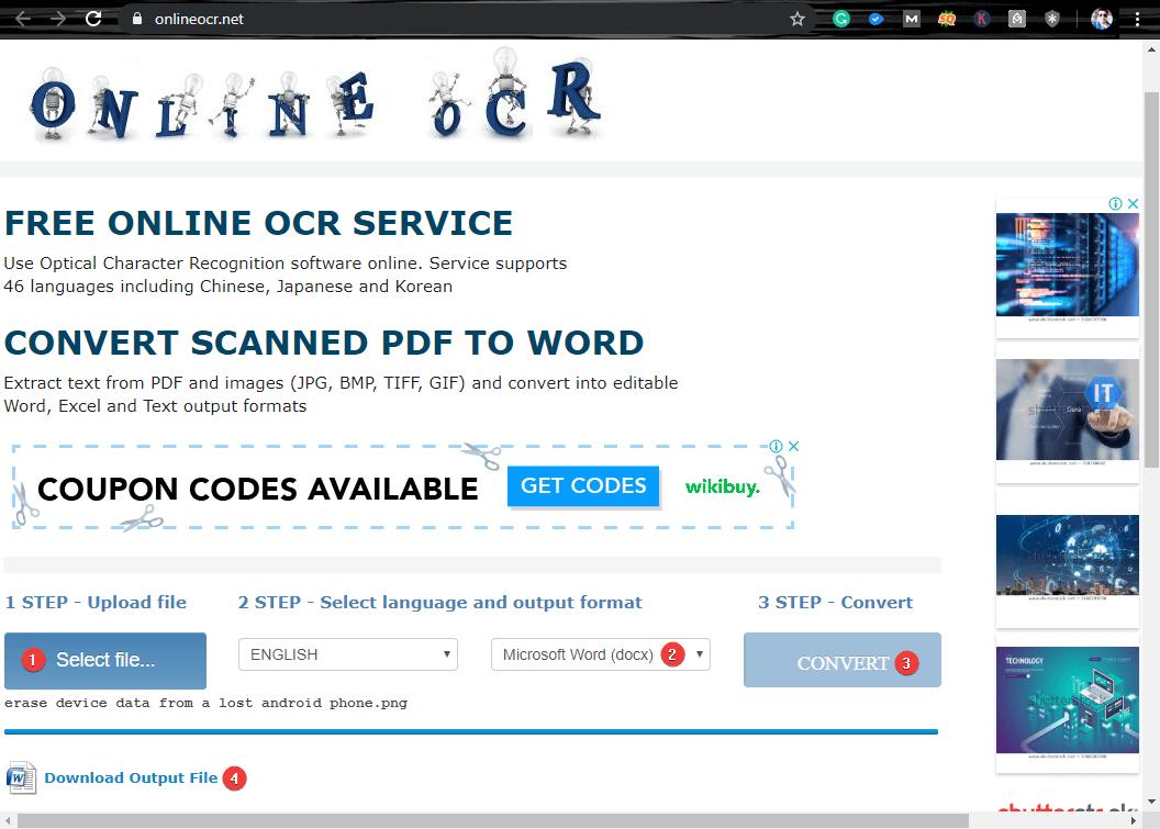Online OCR Converter
