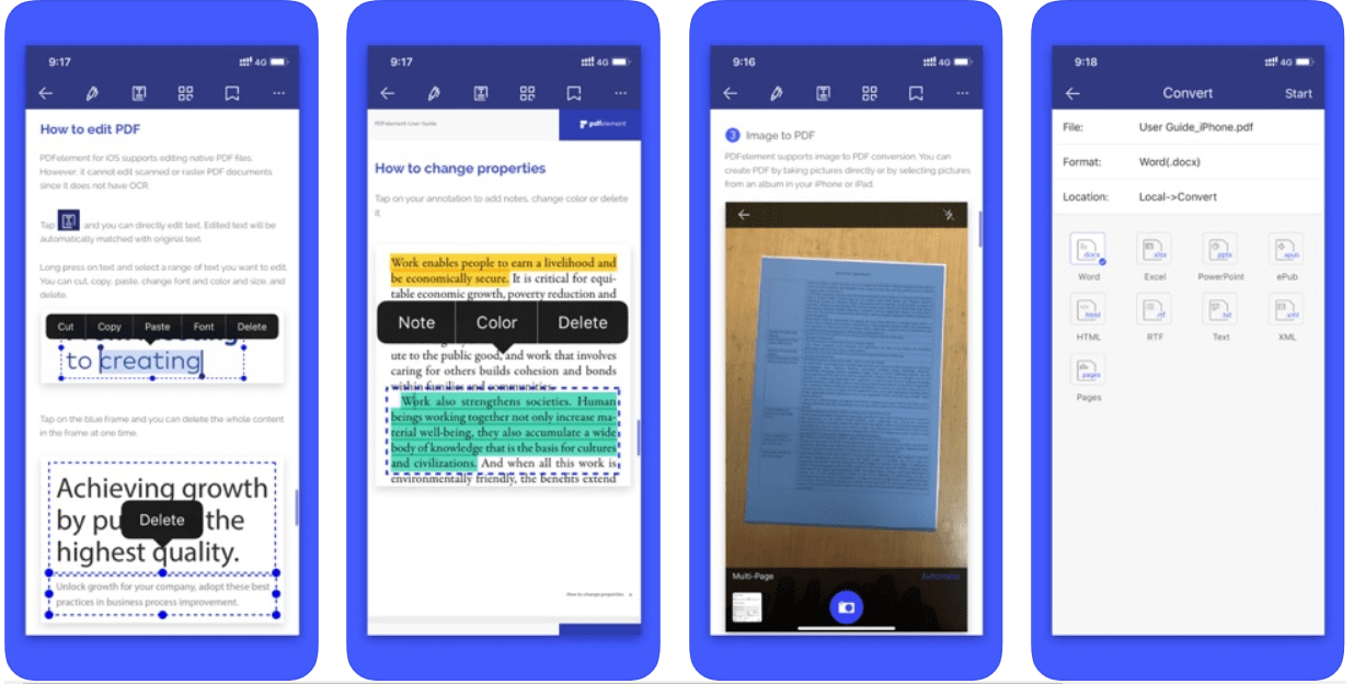 PDFelement - Convert pdf to word for iphone