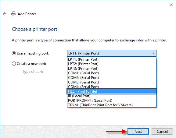 Print to File