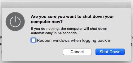 Shut down apps Mac