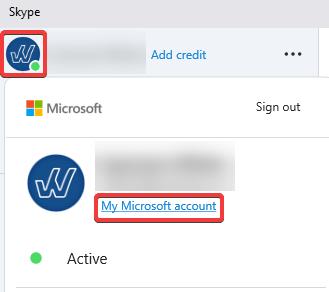 Skype My Microsoft Account