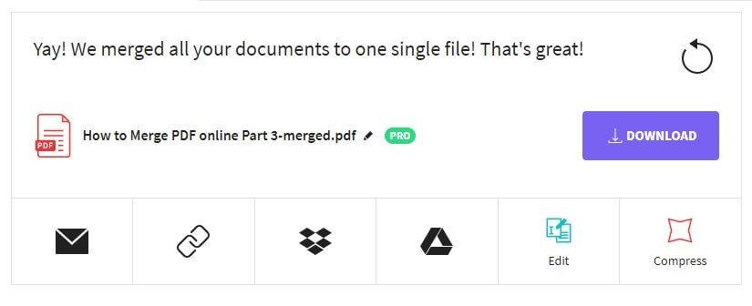 Small PDF Output options