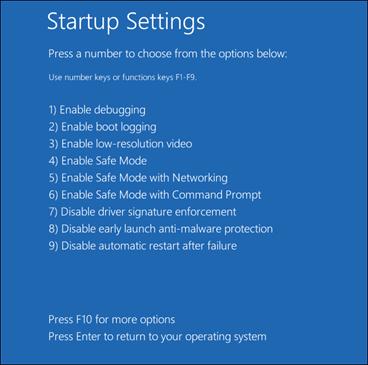 Startup Setting