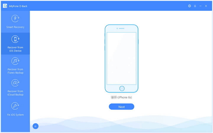 Tap on Recover from iOS DEvice