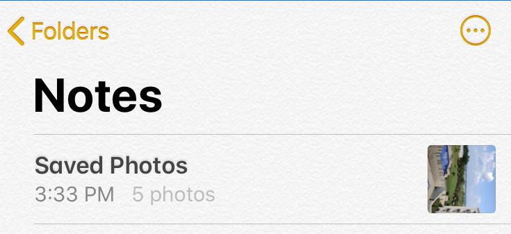 Tap on Saved Photos