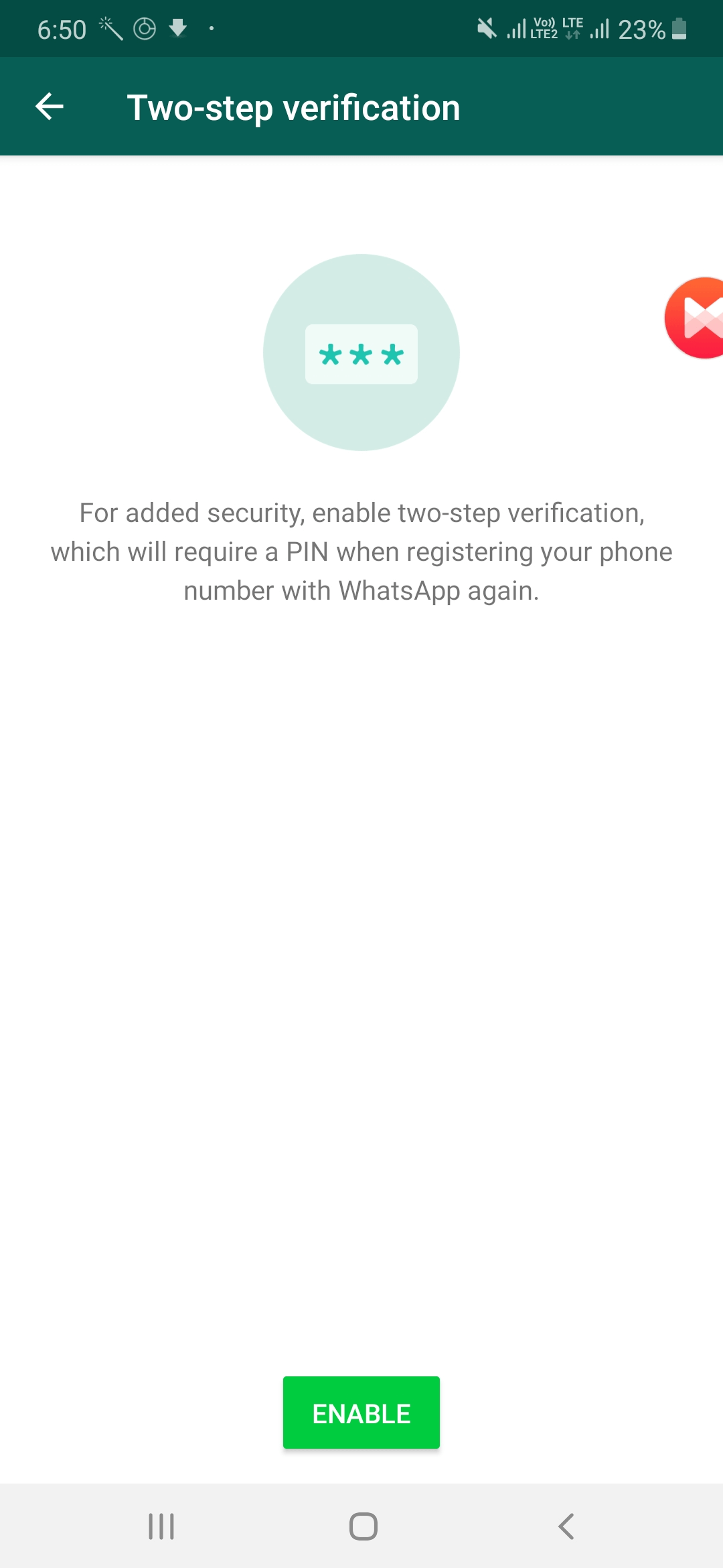 Two Factor Authentication (2FA) For WhatsApp Chats - WhatsApp Latest Version