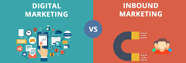 difference between digital marketing and inbound marketing