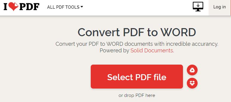 Transform PDF To Word Online - ILovePDF