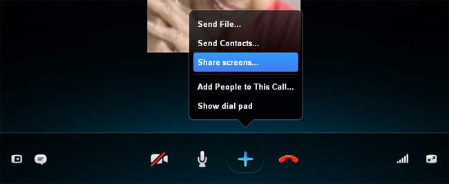 skype screen sharing_Windows 10