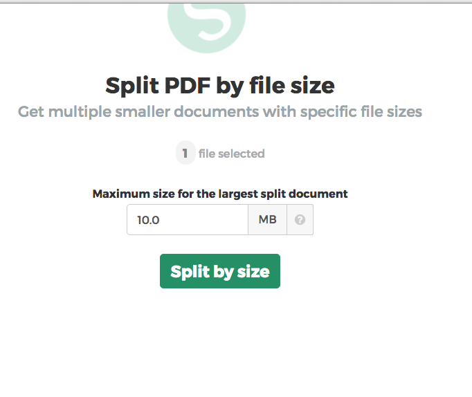 Sejda PDF Split