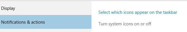 Click on Turn System Icons On or Off