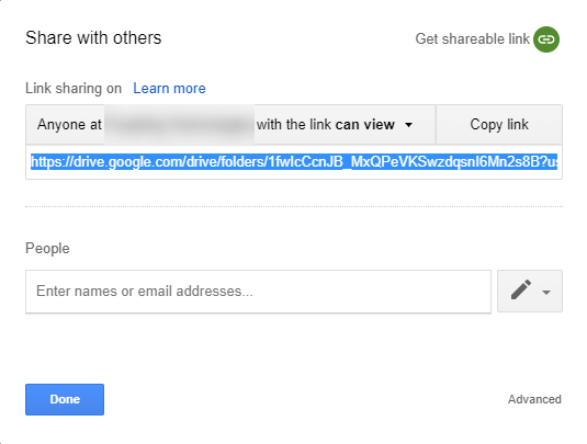 Google Share Drive Link