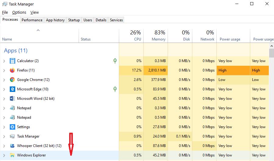 Locate Windows Explorer