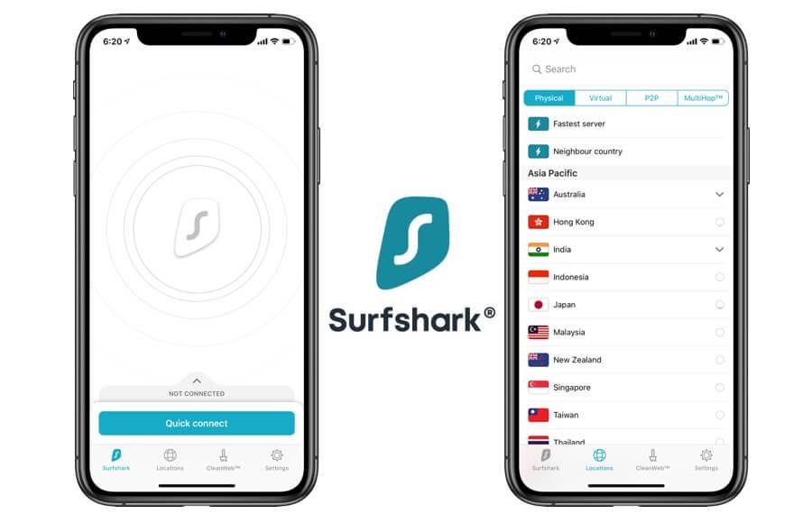 Surfshark_iOS VPN app for security
