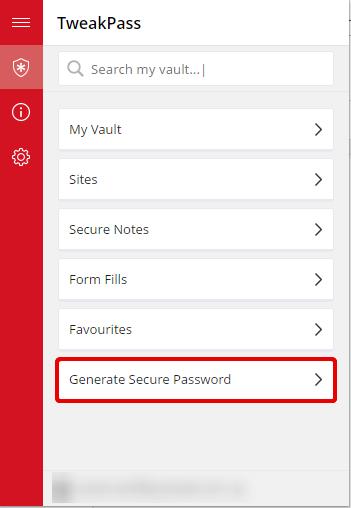 TweakPass_Password Manager
