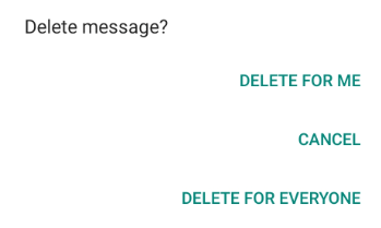 delete for everyone feature - WhatsApp update