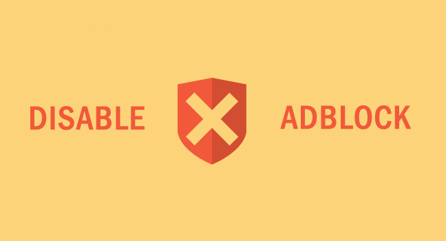 disable ad blocker