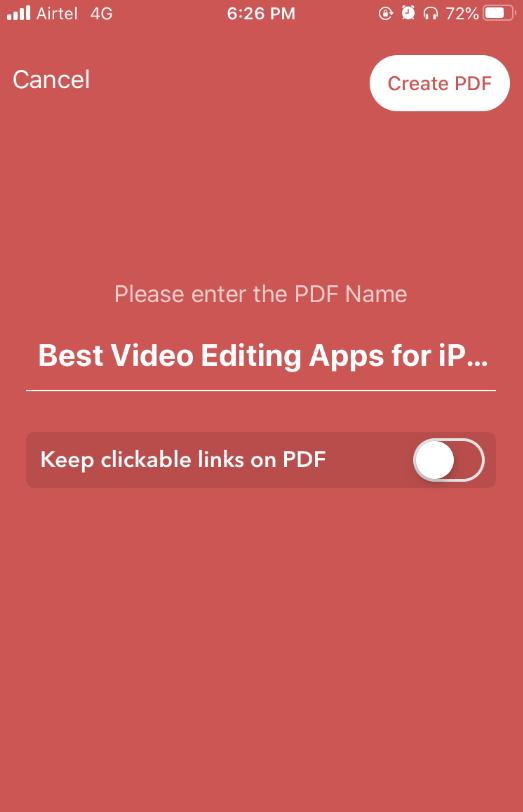 iOS Web to PDF Converter & Reader Create PDF
