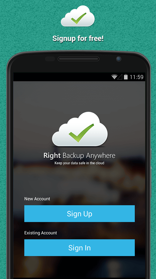 right backup anywhere - backup android data