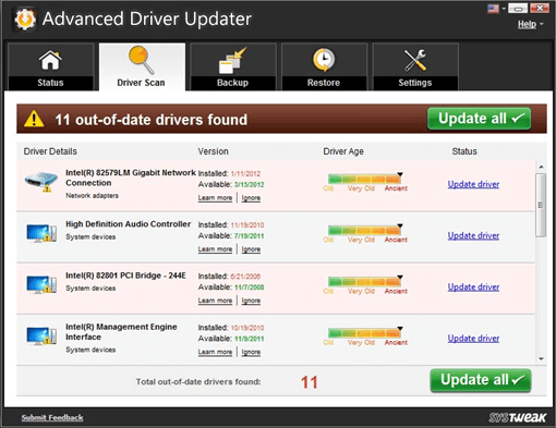 Advanced Driver Updater second