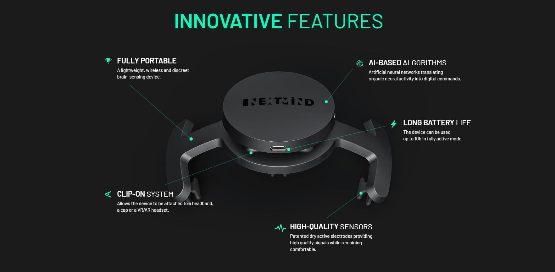 Innovative Features - NextMind Dev Kit