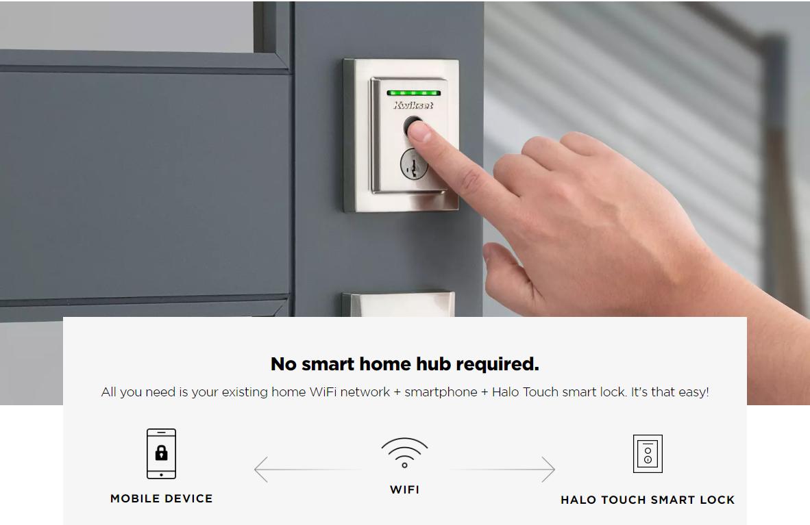 Kwikset Halo Touch Smart Lock With Fingerprint Reader