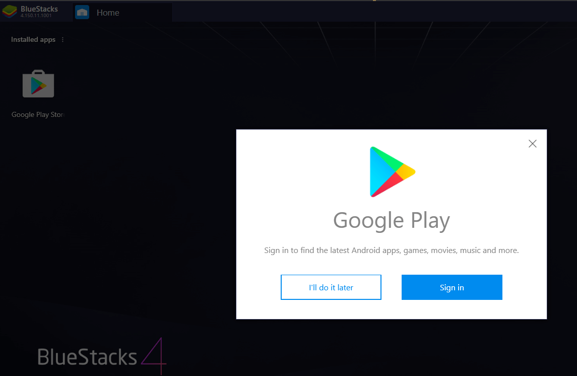 Sign in with Google Play Store