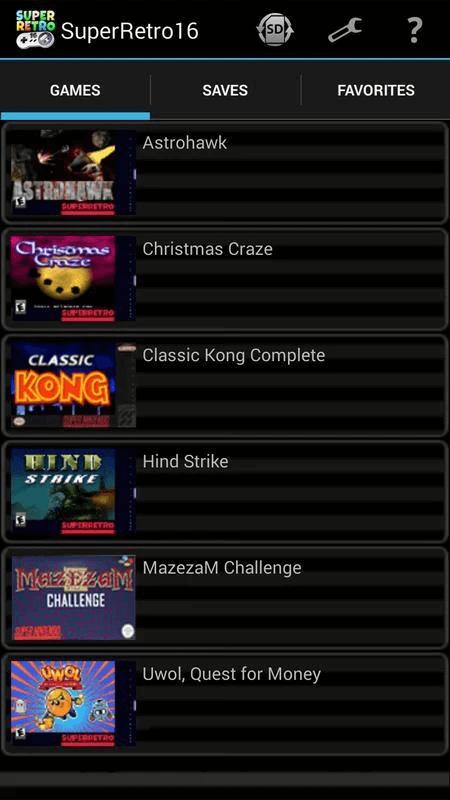 SuperRetro16- SNES Emulator For Android