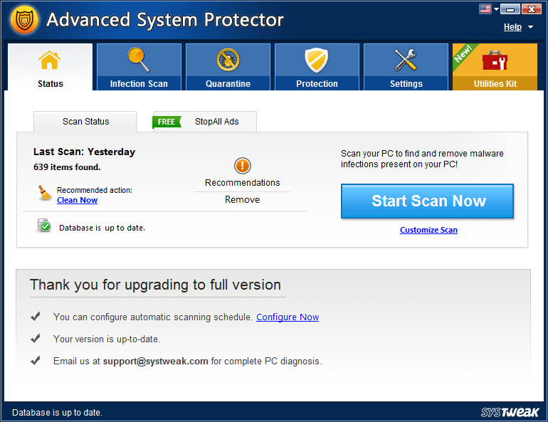 Use Advanced System Protector