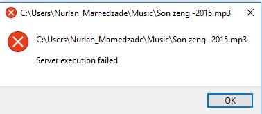 VLC execution failed