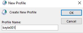 new profile name