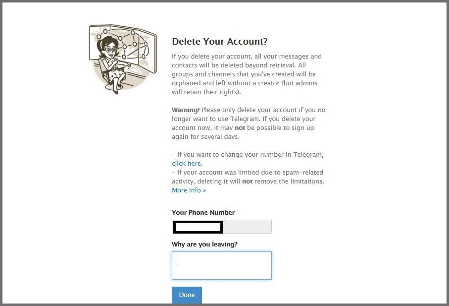 permanently delete telegram account