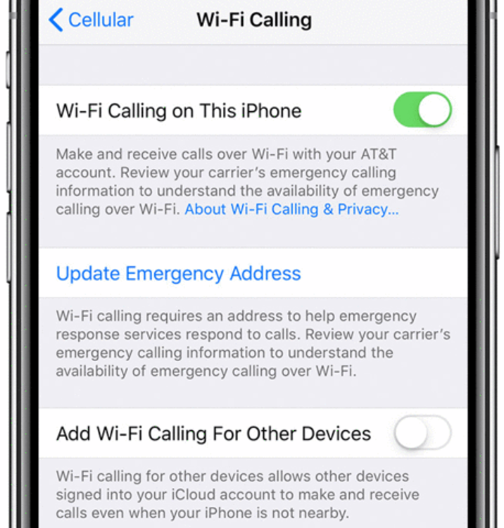 Enable Wi-Fi Calling In iPhone